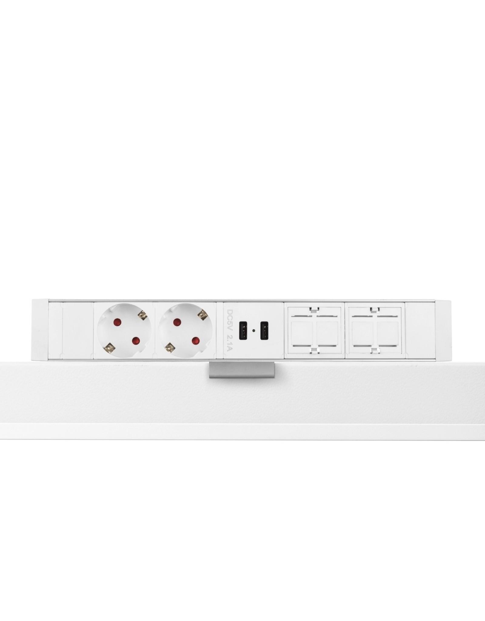Ergo Power Desk up - 2x 230V - 2x USB charger - 2x Keystone