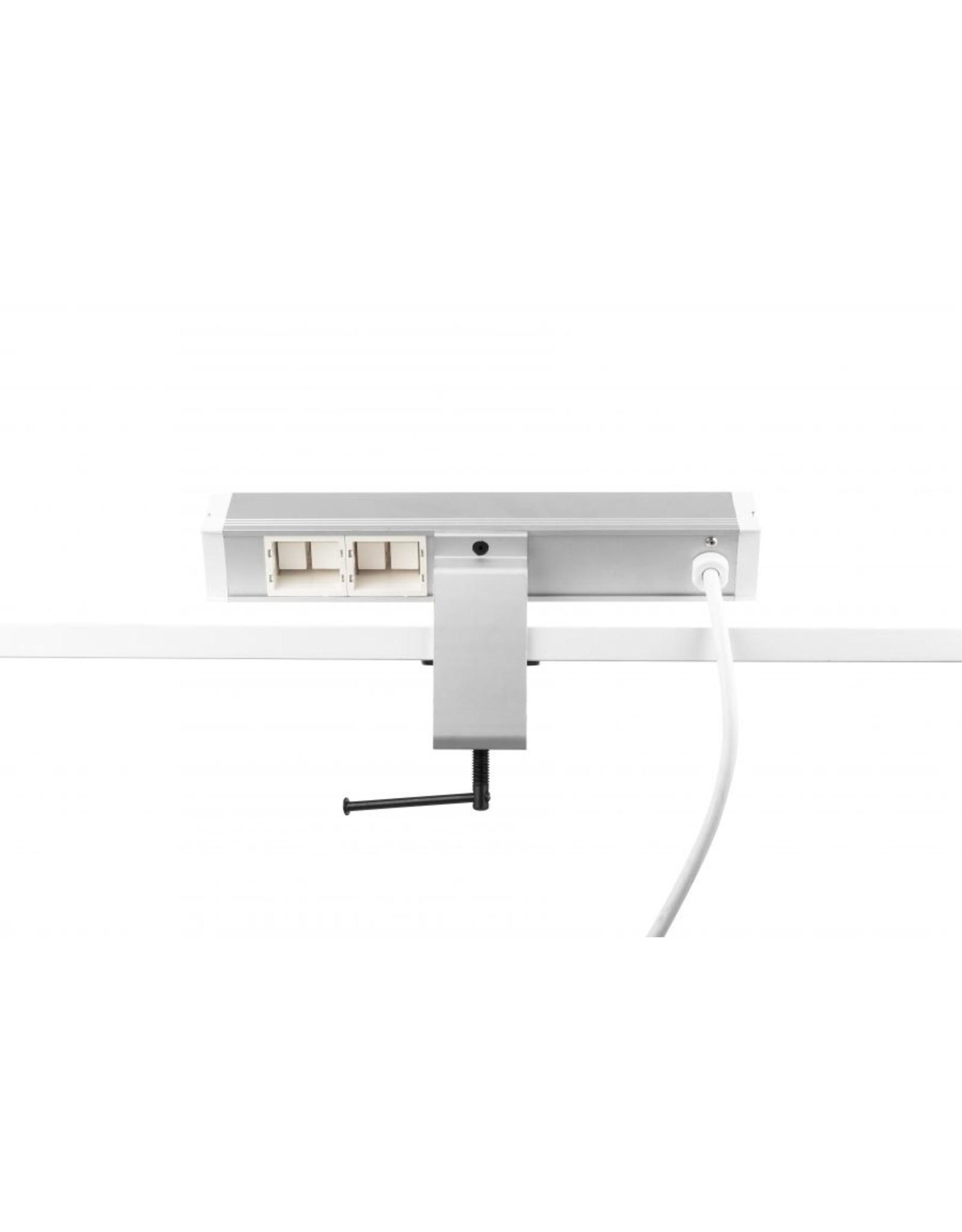 Filex Power Desk up - 2x 230V - 2x USB charger - 2x Keystone