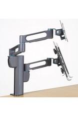 Kensington SmartFit™ Dubbele monitor arm met laptopstandaard