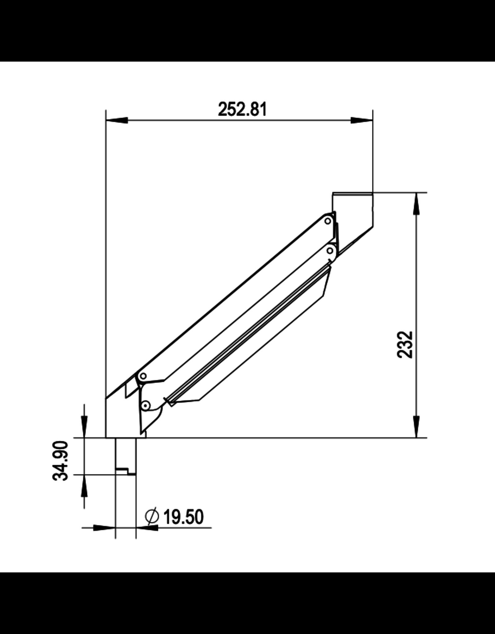 Ergo Galaxy Dynamische Arm (32 cm) Schuin