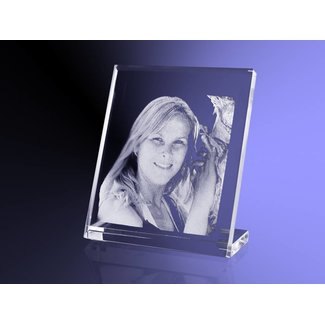 2D foto in glas - Vlakglas facet verticaal