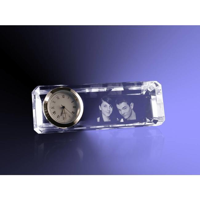Foto 2D in Kristal - Klok  facet