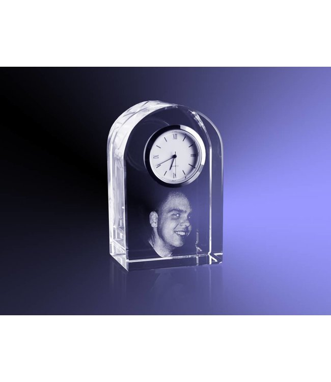 "2D foto in glas - Klok ""round top"""