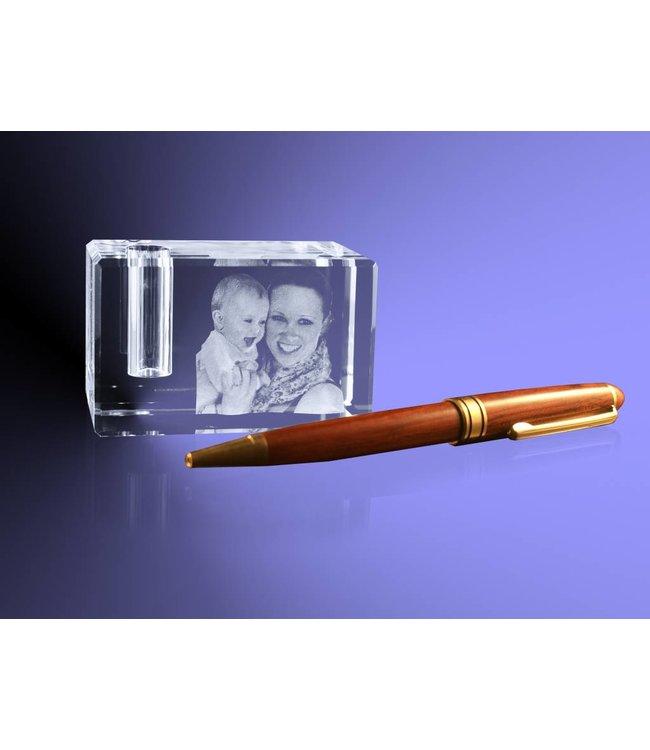 2D foto in glas - Penhouder van glas met foto