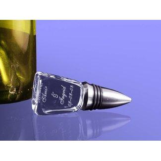 2D foto in glas - Flessenstop van glas en RVS