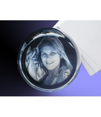 2D foto in glas - Presse-Papier rond
