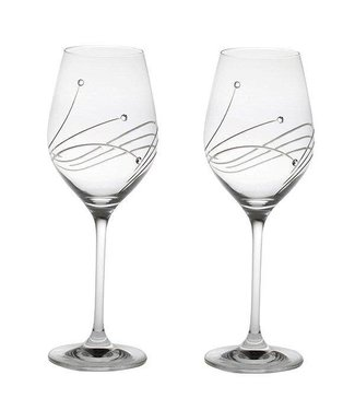 Set van 2 wijnglazen met Swarovski stenen