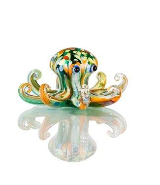 """Glassculptuur - """"Octopus"""""""