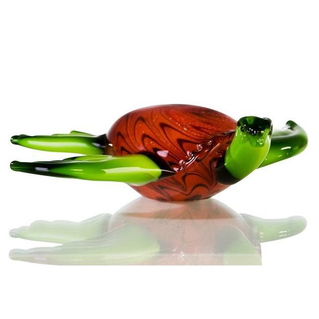 """Glassculptuur - """"Schildpad groot"""""""