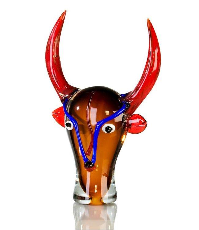 """Glassculptuur - """"Stier Bulle"""""""