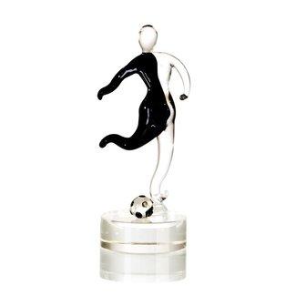 """Glassculptuur - """"Voetballer"""""""