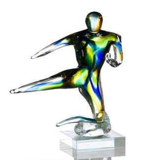 "Glassculptuur - ""Karate"""