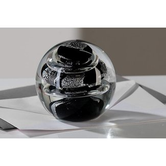 "Glassculptuur - ""Presse Papier - Cirkel"""