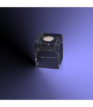 Theelichthouder helder transparant glas