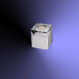 Theelichthouder wit glas
