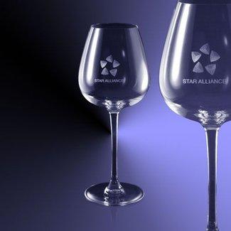Rode wijn glazen (47cl) gegraveerd met tekst