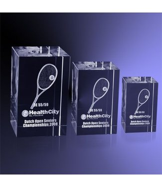 Tennis Blok Award 3D lasergravure