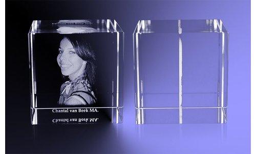 Vaderdag cadeau: Kristal met 2D foto