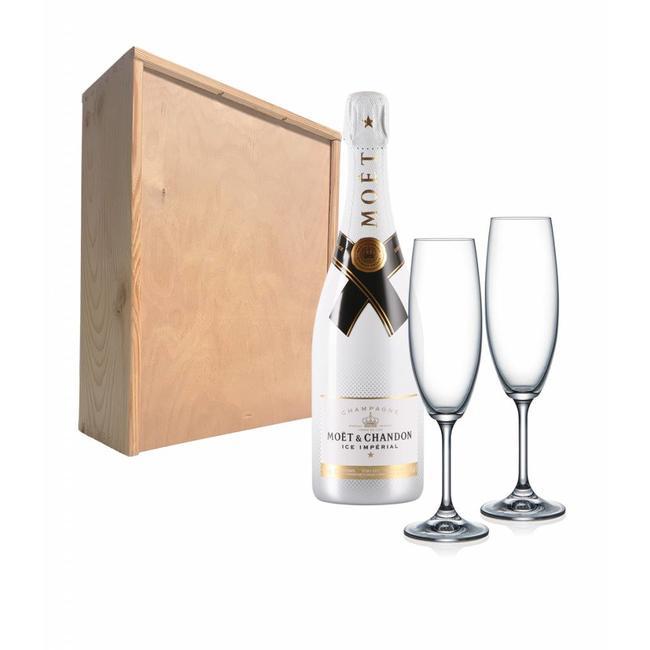 Champagnepakket Met 2 Champagneglazen Moët Chandon Ice Impérial