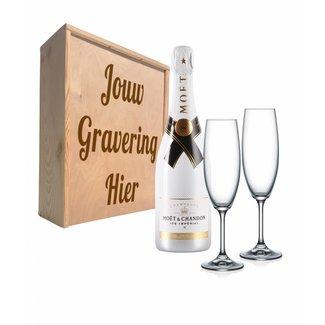 Champagnepakket met glazen - Moët & Chandon Ice Impérial