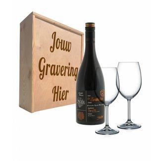 Wijnpakket met glazen - Les Bertholets Grenache, Syrah & Mouvedre