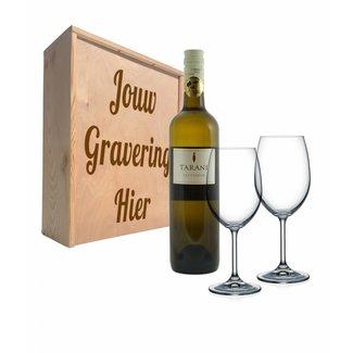 Wijnpakket met glazen - Tarani Sauvignon Blanc