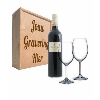 Wijnpakket met glazen - Tarani Malbec