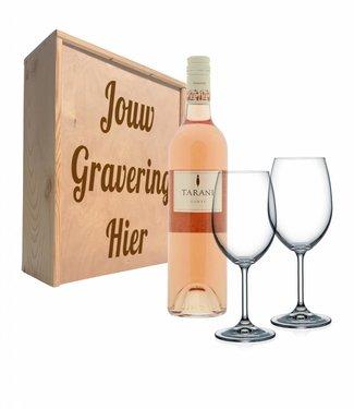 Wijnpakket met glazen - Tarani Gamay rosé