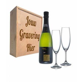Champagnepakket met glazen - Dux du foix brut