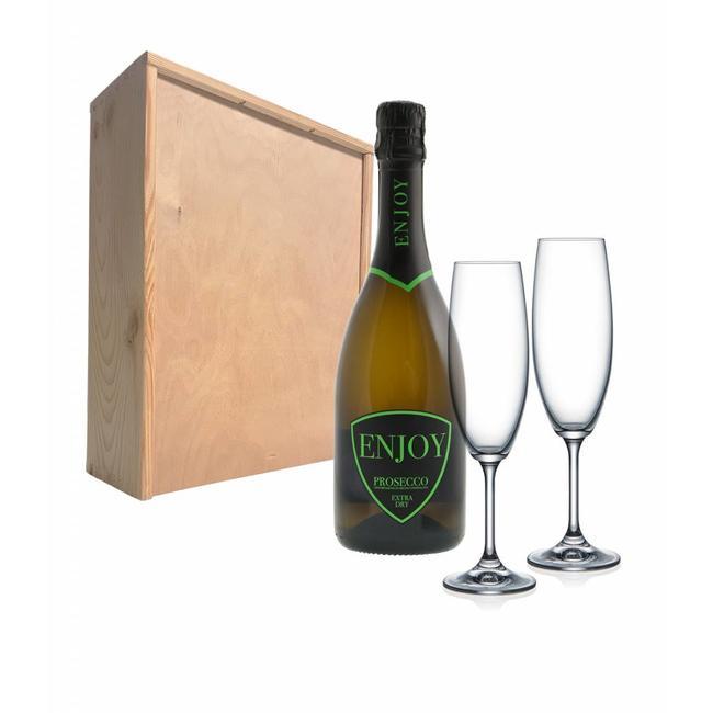 Proseccopakket Met 2 Champagneglazen Enjoy Prosecco