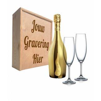 Proseccopakket met glazen - Bottega GOLD
