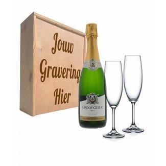 Proseccopakket met glazen - Groot Geluk Vonkelwijn
