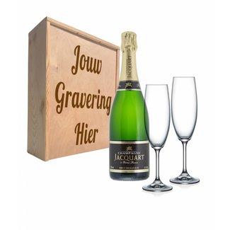 Champagnepakket met glazen - Jacquart Champagne
