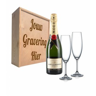 Champagnepakket met glazen - Moët & Chandon Impérial Brut
