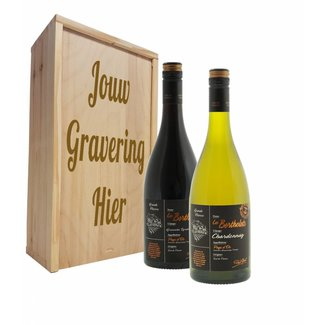 Wijnpakket 2 flessen: Bertholets Chardonay - Bertholets Rouge