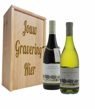 Wijnpakket 2 flessen: Circle of Life witte en rode wijn