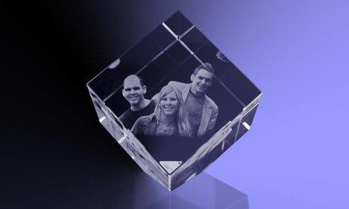 Moederdagcadeau 2D foto in glas