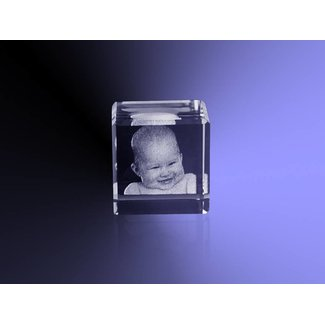 2D foto in glas - Kubus 2 cm dobbelsteen