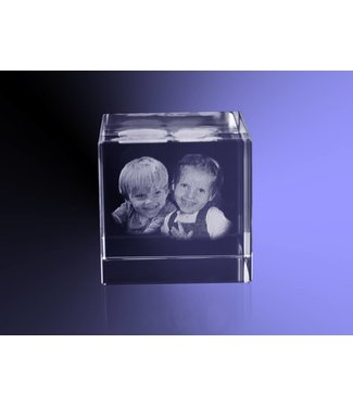 2D foto in glas - Kubus 4 cm