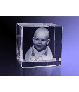 2D foto in glas - Kubus 6 cm