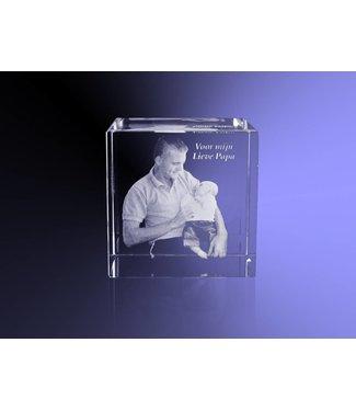 2D foto in glas - Kubus 8 cm