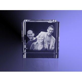 2D foto in glas - Kubus 10 cm
