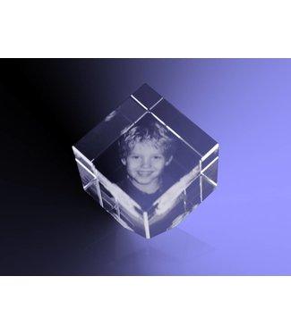 2D foto in glas - Kubus 4 cm staand op hoek