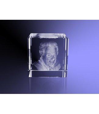 3D foto in glas - Kubus 10 cm