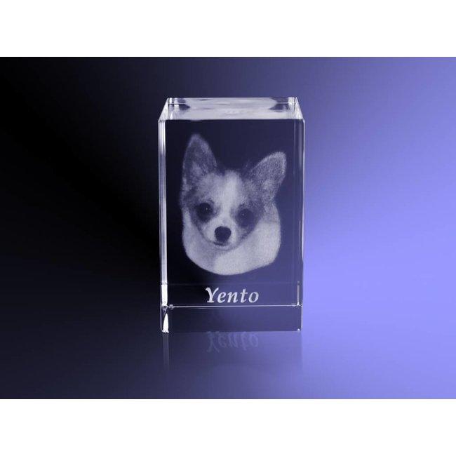 2D Foto in glas - Rechthoek blok 4x4x6 cm