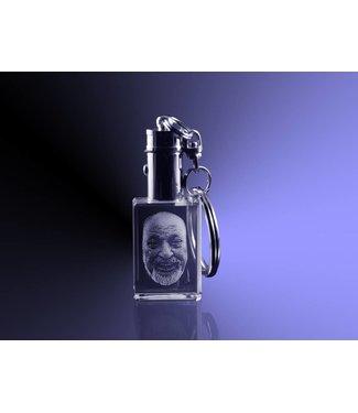 2D foto in glas - Sleutelhanger met verlichting