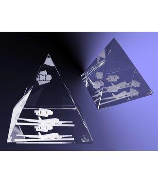 2D foto in glas - Piramide  groot
