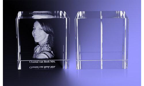 2D foto in kristal