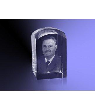 2D foto in glas - Koepel 5x5x8 cm
