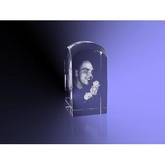 2D foto in glas - Koepel 5x5x10 cm